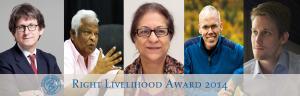 Cerimonia di consegna dei Right Livelihood Awards 2014