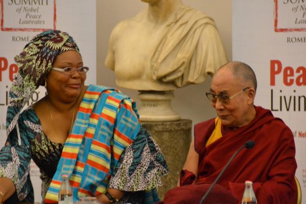 Leymah Gbowee e il Dalai Lama
