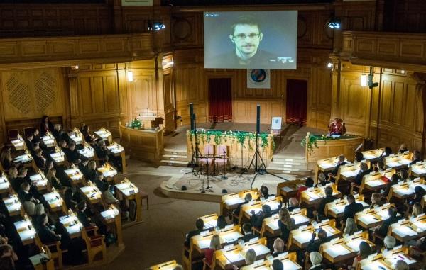 Award Acceptance Speech by Edward Snowden