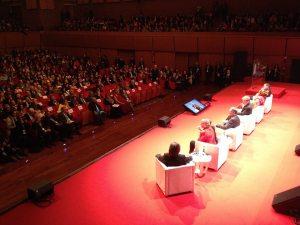 El primer día de la XIV° Cumbre de los Premios Nobel de la Paz en Roma
