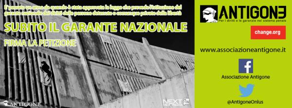 Petizione di Antigone chiede la nomina del Garante Nazionale dei detenuti