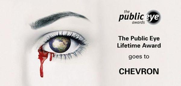 Chevron erhält Public Eye Lifetime Award