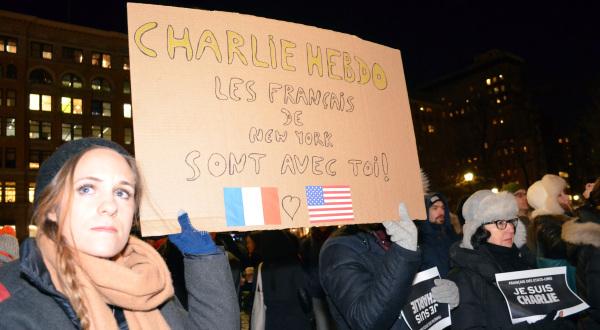 #JeSuisCharlie in #NYC
