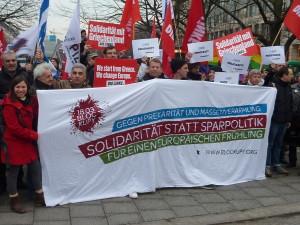 Manifestaciones en apoyo a la lucha de Grecia contra la austeridad