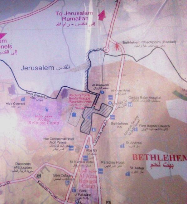 Karte Bethlehem