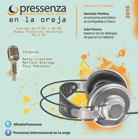 Balance proceso de paz en Colombia y el «No a los tanques» de Chequia En la oreja 27/03/2015