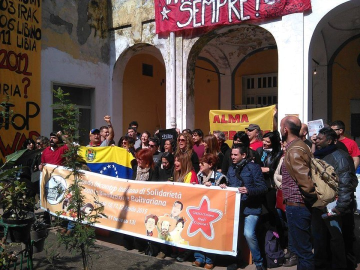 In solidarietà con il Venezuela, in azione per il nostro Paese
