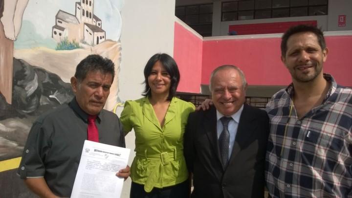 COPEHU Perú renueva convenio con la escuela pública