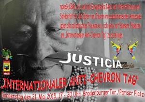 """Aufruf zum """"Internationalen Anti-Chevron Tag"""""""
