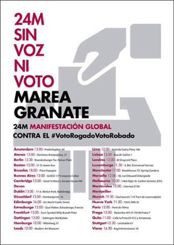 Sin voz ni voto: manifestaciones de españoles ante embajadas por no poder votar