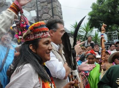 La dirigente de la Tupac Amaru Milagro Sala, candidata al Parlasur por Argentina
