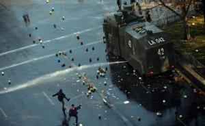 Chile -Das Bewusstsein spielt auf der Strasse