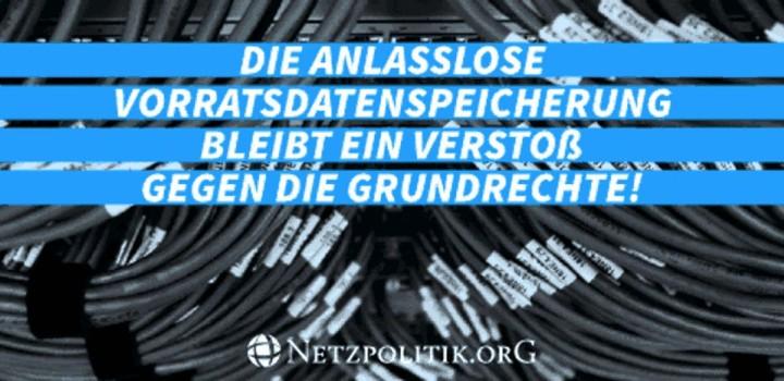 Aufruf: Vorratsdatenspeicherung stoppen