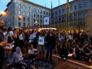 Proteste vor dem Finanzministerium in Berlin