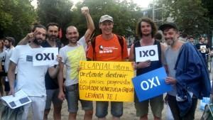 EcuaSoli solidarisiert sich an Demonstration in Berlin mit Ecuador, Venezuela und Griechenland