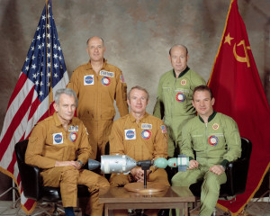 Friedliche Mission vor 40 Jahren: Apollo-Sojus-Koppelung