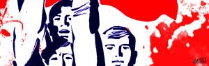 Marchan normalistas y organizaciones sociales en Tixtla; acusan al gobernador de dividir a las organizaciones
