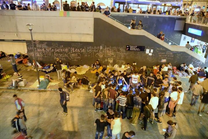 Impressionen vom Hauptbahnhof in Budapest