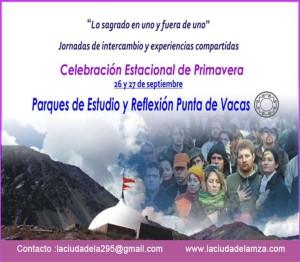 Jornadas festivas y abiertas en Parque Punta de Vacas los días 26 y 27 de septiembre