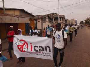 Call for Nuclear Abolition on Peace March in Togo
