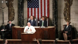 Pope Francis urges U.S. Congress to end Arms Trade & open doors to immigrants