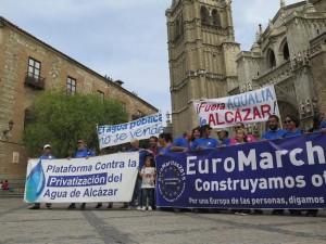 Der Euromarsch gegen die Privatisierung des Wassers