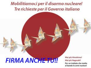 Mobilitiamoci per il disarmo nucleare: tre richieste per il governo italiano