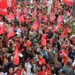 manifestação Em 20 de agosto, as entidades que compõem a frente protestaram contra o ajuste fiscal e pela democracia<br /