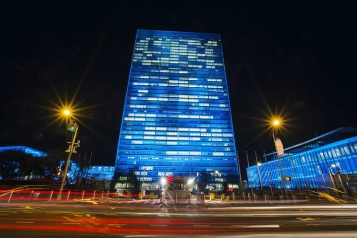 O mundo se veste de azul para celebrar 70 anos da ONU