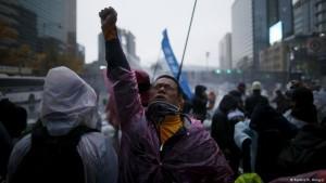 Massendemonstrationen gegen Regierung in Südkorea