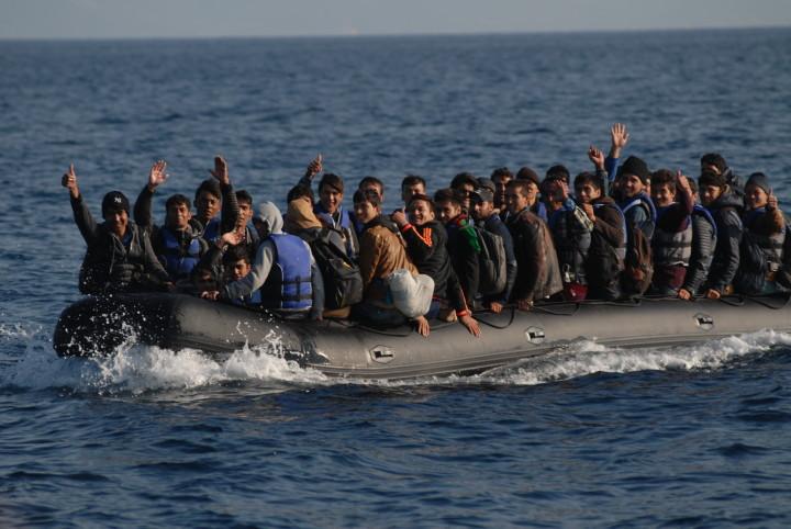 Lesbos, Griechenland: Ankunft von Flüchtlingen aus der Türkei