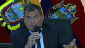 Ecuador's Correa challenged Macri for his proposal of removing Venezuela from Mercosur
