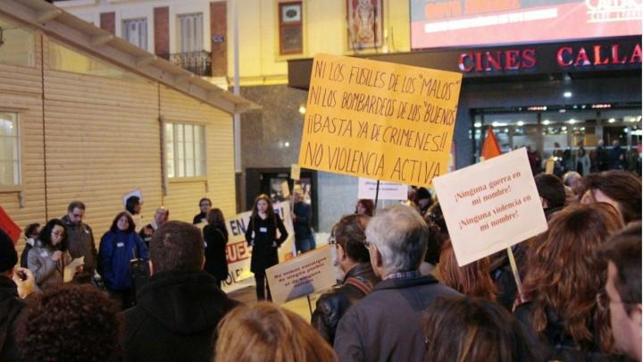 ME DECLARO EN PAZ se suma a concentración contra la guerra en Madrid