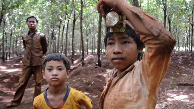 Los niños mineros de Camboya