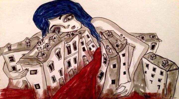 "Sara Sgrò, ""Abbraccio di vita"". Parigi, 13 novembre 2015"
