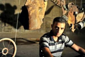 Abdullah al-Rozzi: Kunst aus Gaza, aus dem Uterus des Leidens