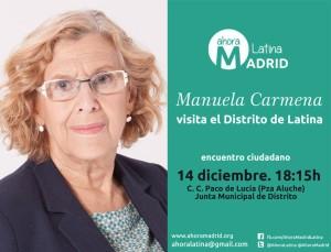 Municipalismo: Manuela Carmena recorre los barrios de Madrid