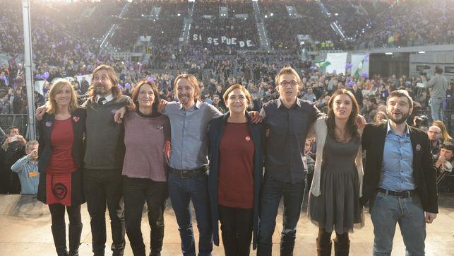 Podemos reúne a más de 10.000 personas en la Caja Mágica con PP y Ciudadanos como enemigos a batir