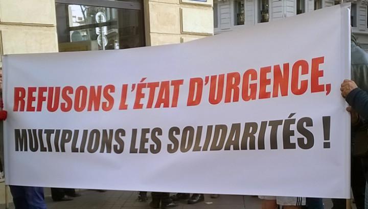 Manifestation à Marseille: Refusons l'Etat d'urgence et multiplions les solidarités!