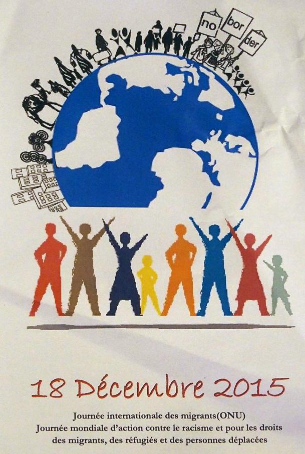 Marseille 18 décembre, Journée Internationale des Migrant-e-s, personnes déplacées et réfugié-e-s