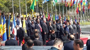 President Rafael Correa of Ecuador opens the CELAC summit