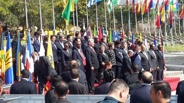 Der ecuadorianische Präsident Rafael Correa eröffnet den CELAC Gipfel