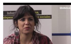 """""""Las instituciones son un traje a medida de quienes las han diseñado"""", dice Teresa Rodríguez de Podemos"""
