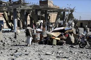 Bombardeos en Yemen: «No hay ni sirenas, sólo oyes la explosión»