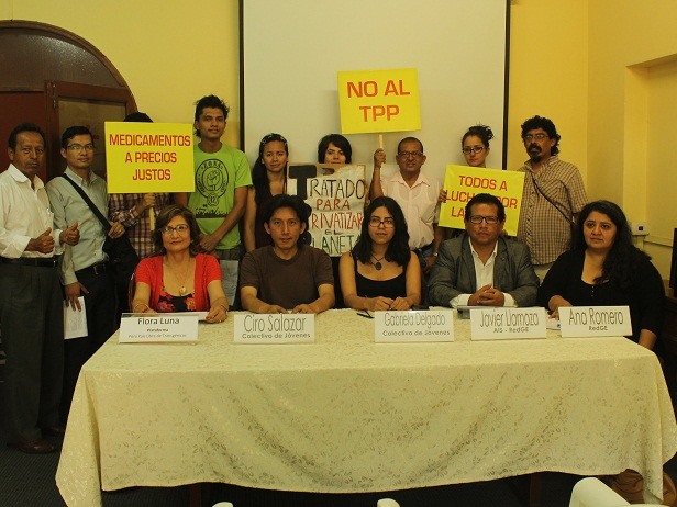 Peruanos se unen hoy en marcha contra el TPP