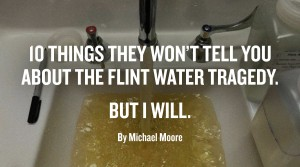 Flint, US, lead in water, privatisation and Democracy-shattering