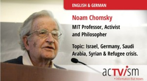 Noam Chomsky – German weapons exports to Israel & Saudi Arabia and the refugee crisis