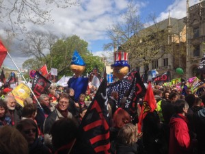 Thousands rally in Hannover against TTIP trade deal before Obama's visit