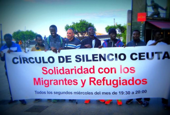 Círculo de Silencio en Ceuta ante el drama de refugiados