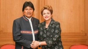Evo expressa solidariedade a Dilma frente ao golpe do congresso